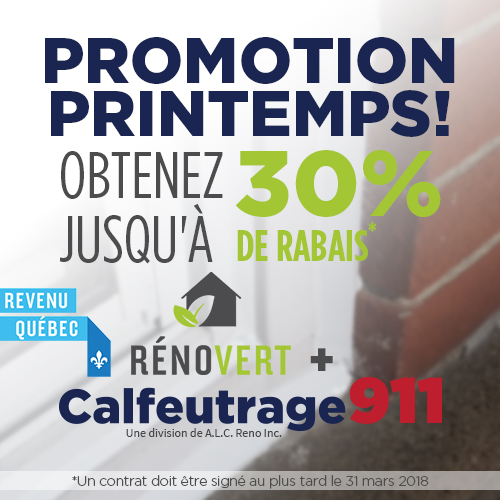 Promotion Printemps | Calfeutrage911